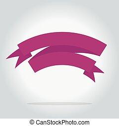 Isolated ribbon icon