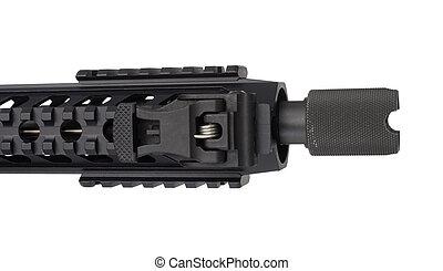 Isolated rifle barrel