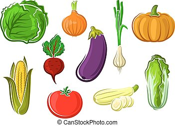 Isolated ripe healthy farm vegetables - Ripe fresh tomato,...