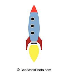 Isolated rocket toy