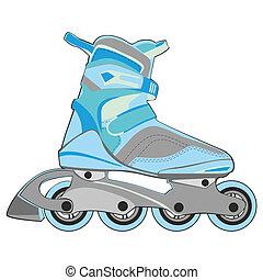 isolated roller skates - fully editable vector illustration...