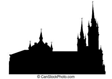 isolated Roman-Catholic church - Roman-Catholic church with...