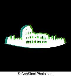 Isolated Rome cityscape