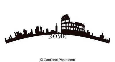 Isolated Rome skyline