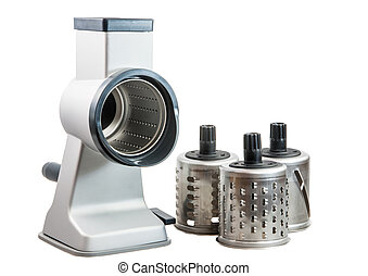 Isolated Rotary Cheese Grater - Isolated cylindric drum...