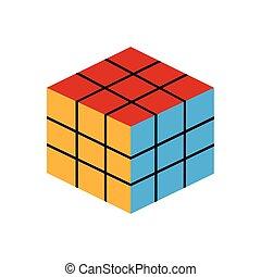 Isolated rubik cube icon