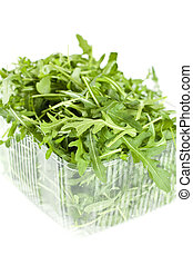 Isolated Rucola Leaves