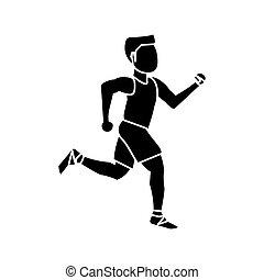 Isolated runner man design