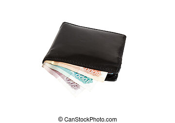 Isolated russian rubles banknotes in a wallet - Russian ...