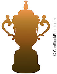 Isolated RWC Trophy in Gold - Isolated Rugby World Cup...