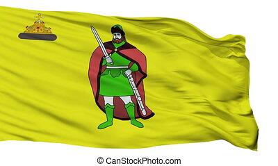 Isolated Ryazan city flag, Russia - Ryazan flag, city of...