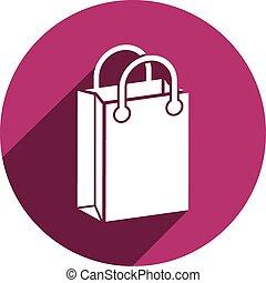 isolated., saco, vetorial, shopping, ícone