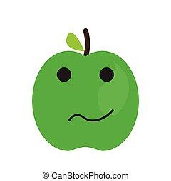 Isolated sad apple emote
