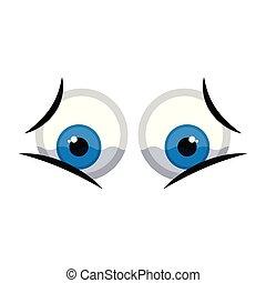 Isolated sad eyes image. Vector illustration design
