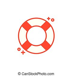 Isolated safe float icon line design