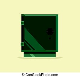 Isolated safe icon. Vector flat cartoon illustration