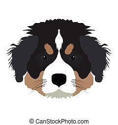 Isolated saint bernard avatar on a white background, Dog...