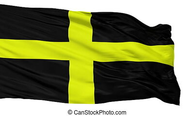 Isolated Saint David city flag, UK - Saint David flag, city...