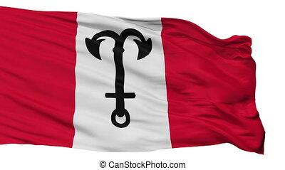 Isolated Salacgriva city flag, Latvia - Salacgriva flag,...