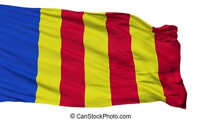 Isolated Salerno city flag, Italy - Salerno flag, city of...
