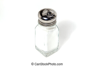 Isolated Salt Shaker - on White Background