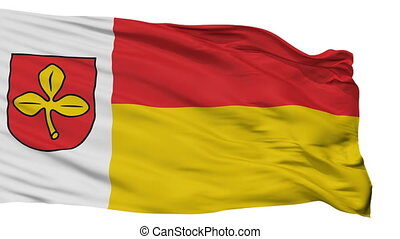 Isolated Salzkotten city flag, Germany - Salzkotten flag,...