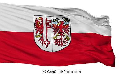 Isolated Salzwedel city flag, Germany - Salzwedel flag, city...