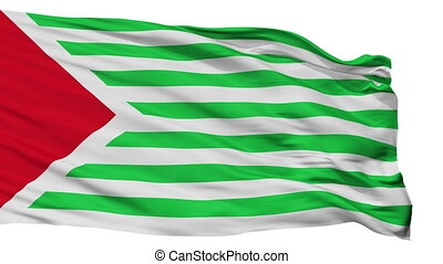 Isolated San Antonio del Tequendama city flag, Colombia -...