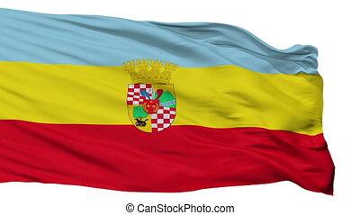 Isolated San Bernardo city flag, Chile - San Bernardo flag,...