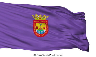 Isolated San Cristobal la Laguna city flag, Spain - San...