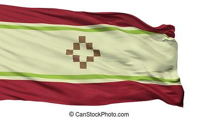 Isolated San Fernando del Valle de Catamarca city flag,...