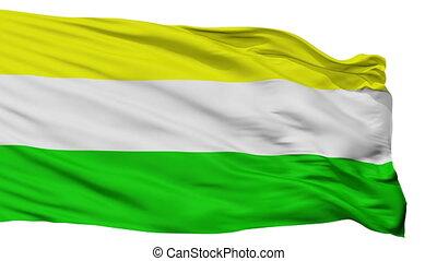 Isolated San Juan Bautista city flag, Paraguay - San Juan...