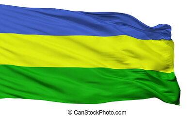 Isolated San Juan del Cesar city flag, Colombia - San Juan...