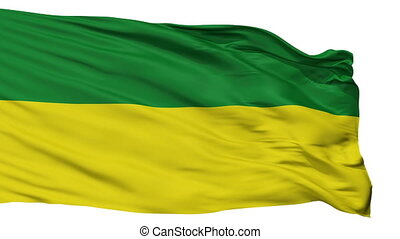 Isolated San Marcos city flag, Colombia - San Marcos flag,...