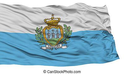 Isolated San Marino Flag, Waving on White Background, High ...