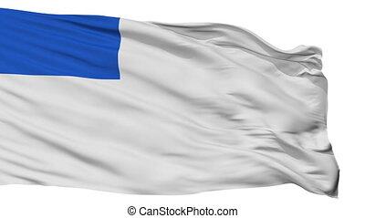 Isolated San Sebastian city flag, Spain - San Sebastian...