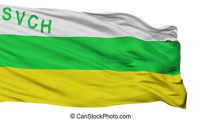 Isolated San Vicente de Chucuri city flag, Colombia - San...