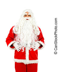 Isolated Santa Claus on white background