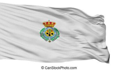 Isolated Santa Cruz city flag, Spain - Santa Cruz flag, city...