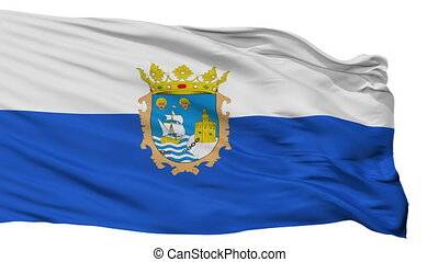 Isolated Santander city flag, Spain - Santander flag, city...