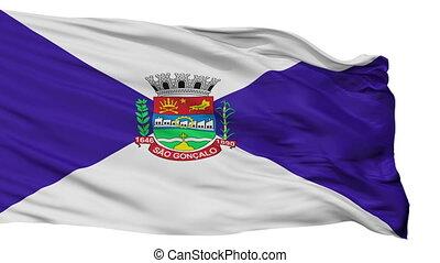 Isolated Sao Goncalo city flag, Brasil - Sao Goncalo flag,...