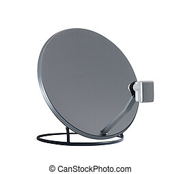 isolated satelite dish on white background