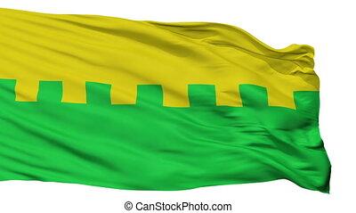 Isolated Saue city flag, Estonia - Saue flag, city of...