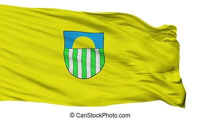 Isolated Saulkrasti city flag, Latvia - Saulkrasti flag,...