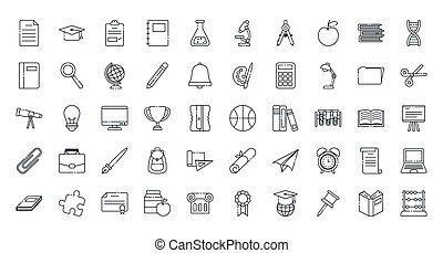 Isolated school icon set vector design