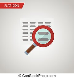 Isolated Search Flat Icon. Scan Vector Element Can Be Used For Scan, Search, Magnifier Design Concept.