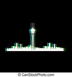 Isolated Seattle cityscape