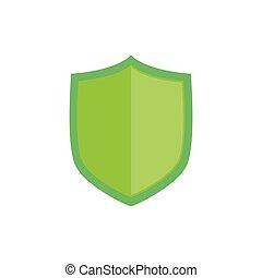 Isolated security badge