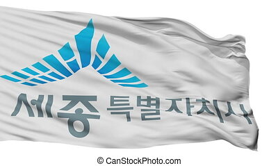 Isolated Sejong city flag, South Korea - Sejong flag, city...