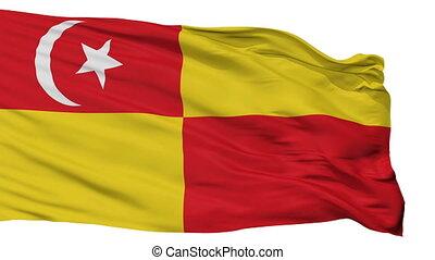 Isolated Selangor city flag, Malaysia - Selangor flag, city...